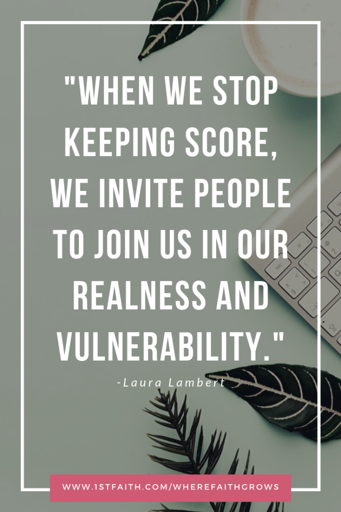 Quote from blog post about 5k and Keeping Score by Laura Lambert, Christian Podcaster and Speaker